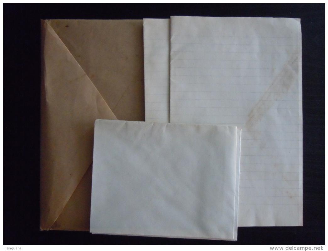 LUSITANIA Ancien Enveloppe Du Bateau Torpillé En 1915 Tient 4 Enveloppe Et 5 Papier à Lettre Omslag En Briefpapier - Bateaux