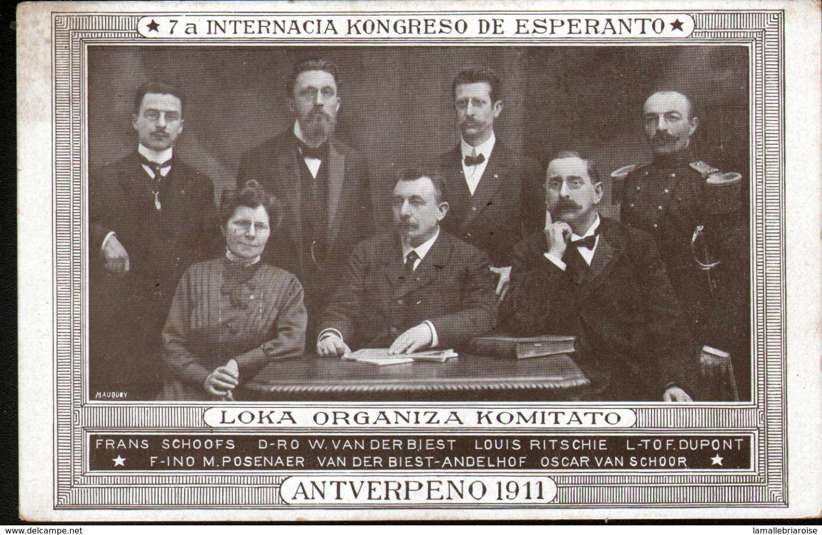 ESPERANTISME, ANTVERPENO 1911, - Esperanto