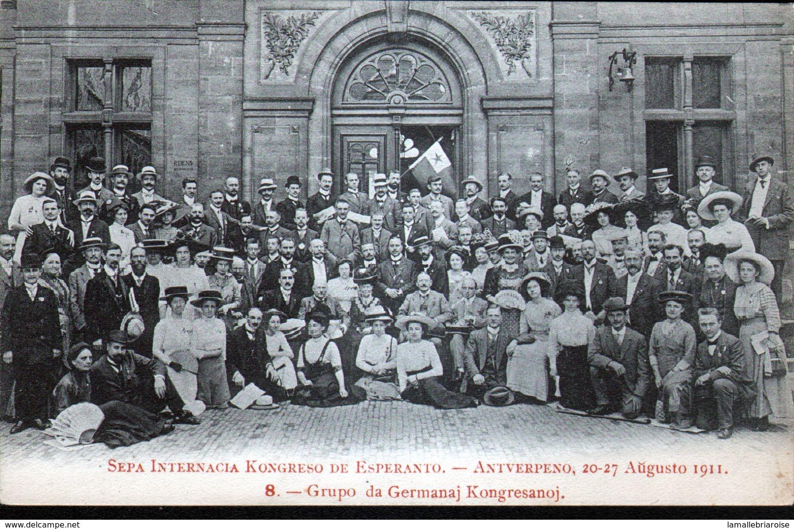 ESPERANTISME, Congrès Esperanto Anvers 1911, N°8 - Esperanto