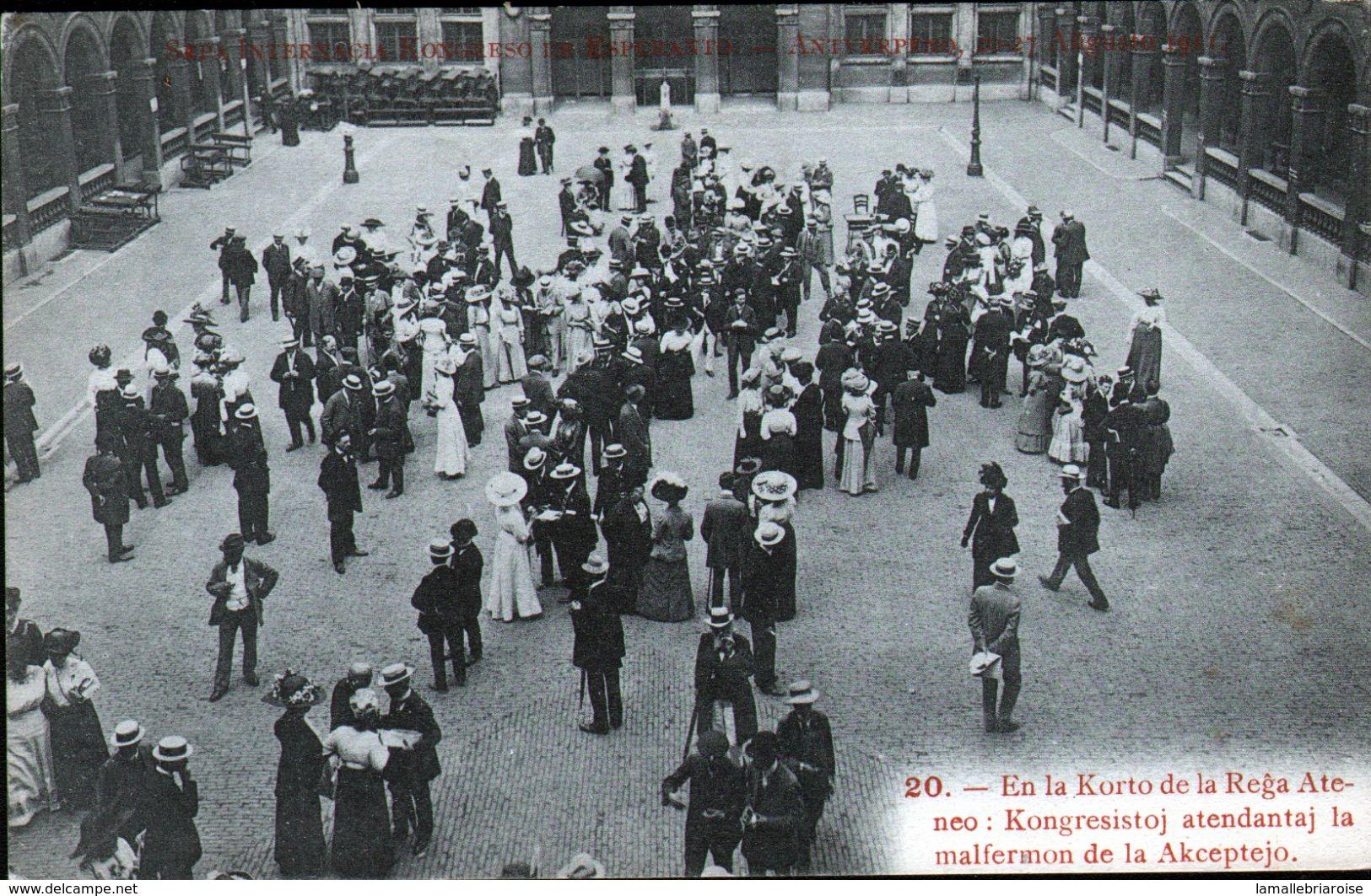 ESPERANTISME, Congrès Esperanto Anvers 1911, N°20 - Esperanto