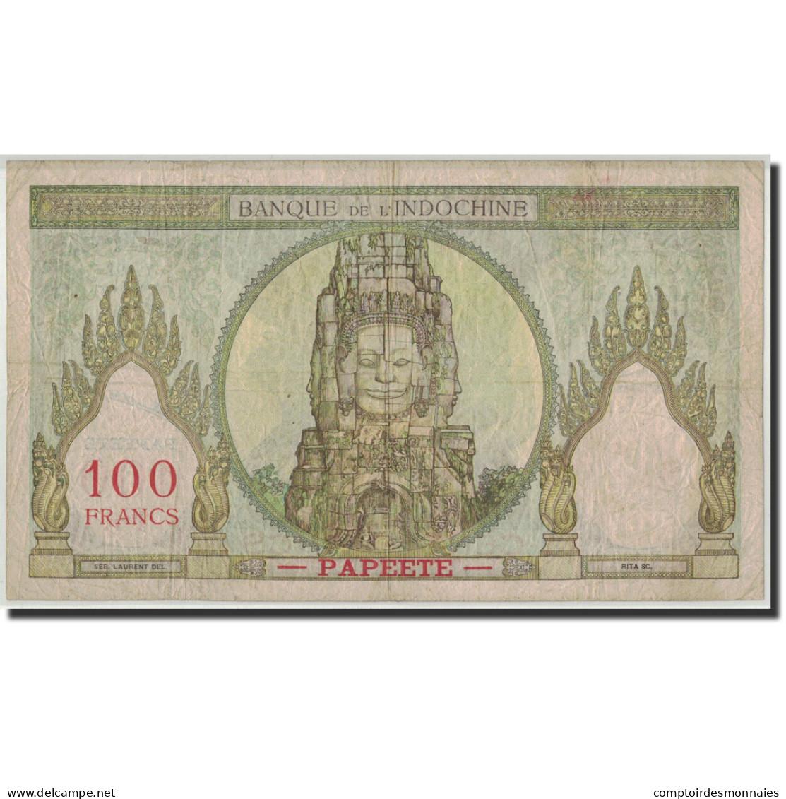 Tahiti, 100 Francs, Undated (1939-65), KM:14d, TB - Papeete (Polynésie Française 1914-1985)