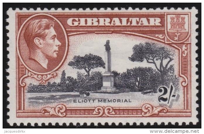 Gibraltar        .    SG     .     128b    Perf.  13         .      *    .     Ongebruikt   .    /    .      Mint-hinged - Gibraltar