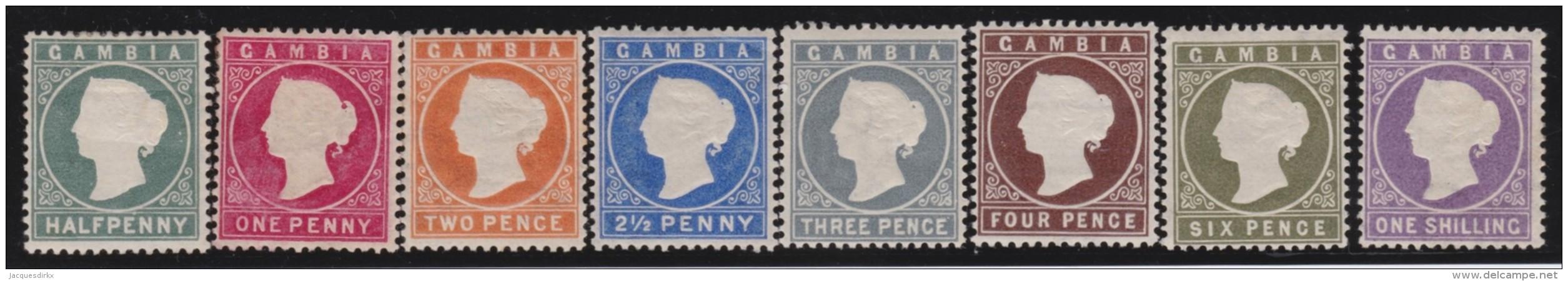 Gambia       .    SG     .     8  Stamps       .      *    .     Ongebruikt   .    /  .      Mint-hinged - Gambia (...-1964)