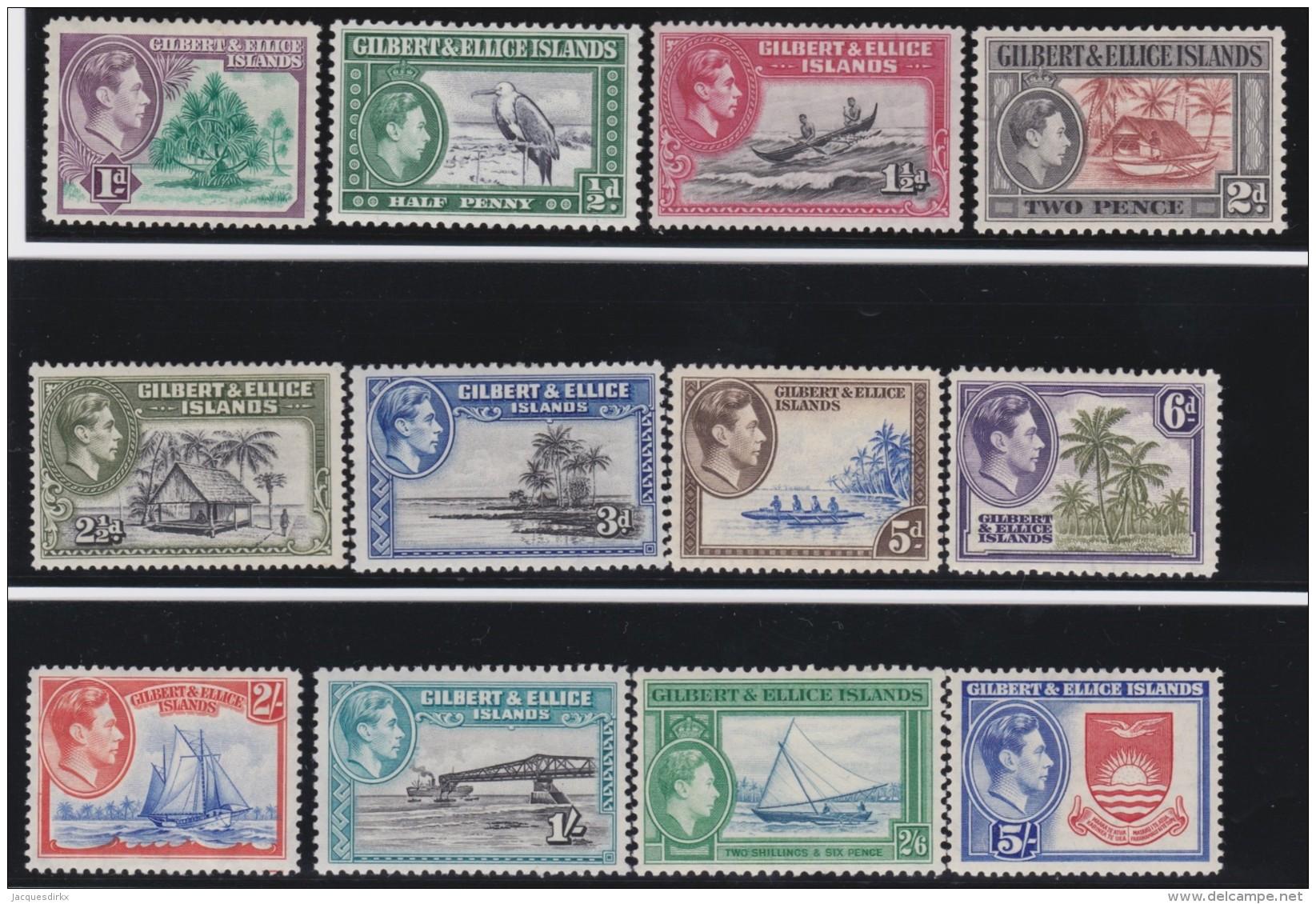 Gilbert&Ellice Islands      .    SG     .    43/54      .      *    .     Ongebruikt   .    /  .      Mint-hinged - Gilbert- En Ellice-eilanden (...-1979)