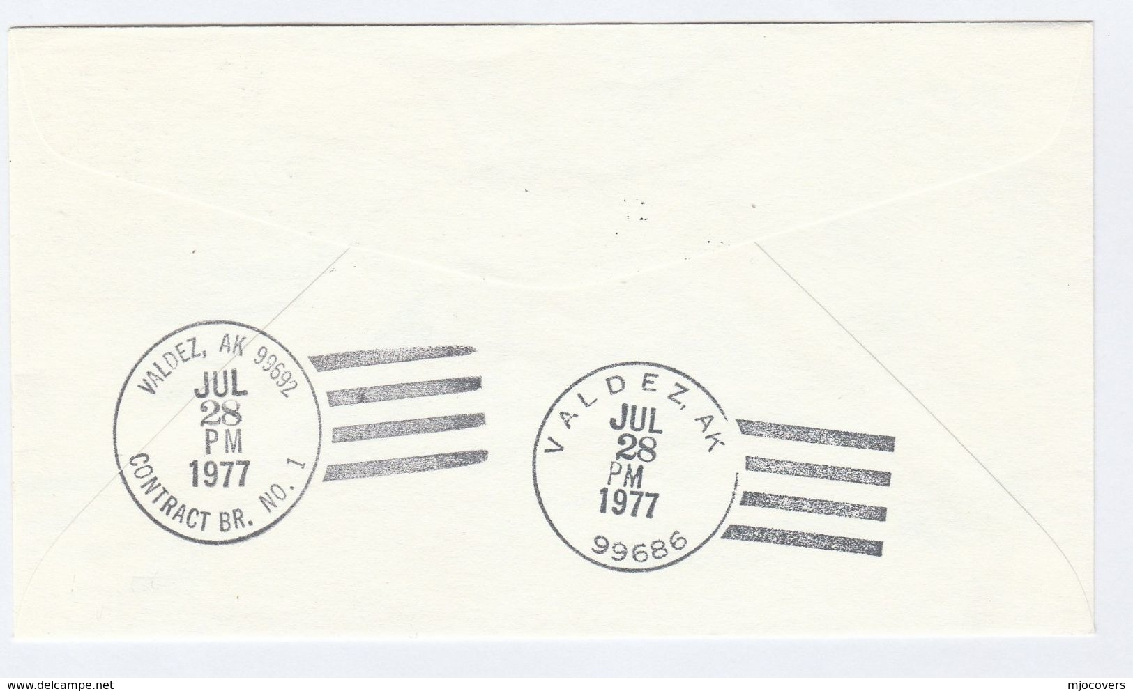 1974/1977 Alaska VALDEZ OIL PIPELINE INAUGURATION COVER  Environment Event Stamps Minerals Petrochemicals Dog Usa - Oil
