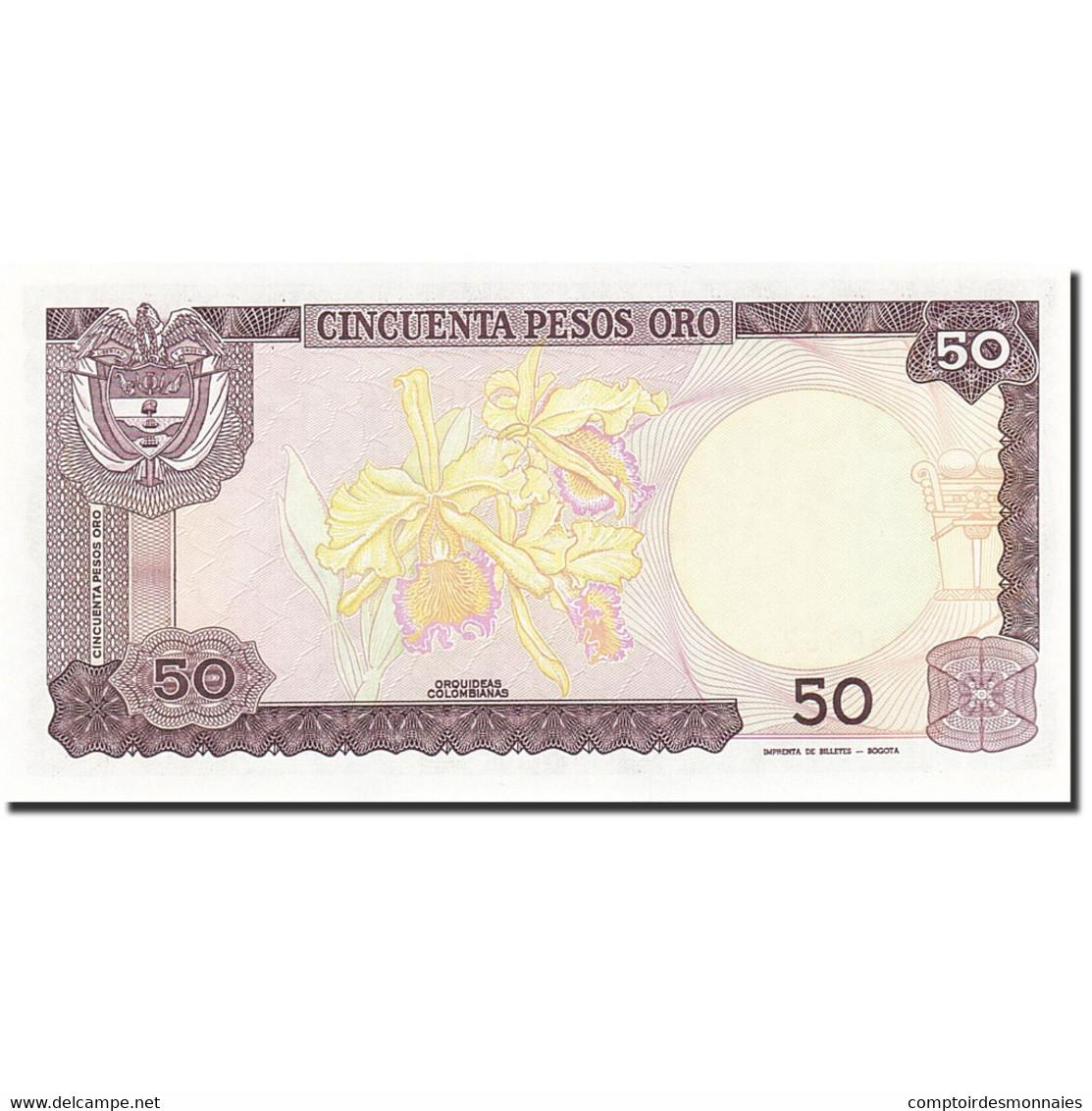 Colombie, 50 Pesos Oro, 1982-1984, 1986-01-01, KM:425b, NEUF - Colombie