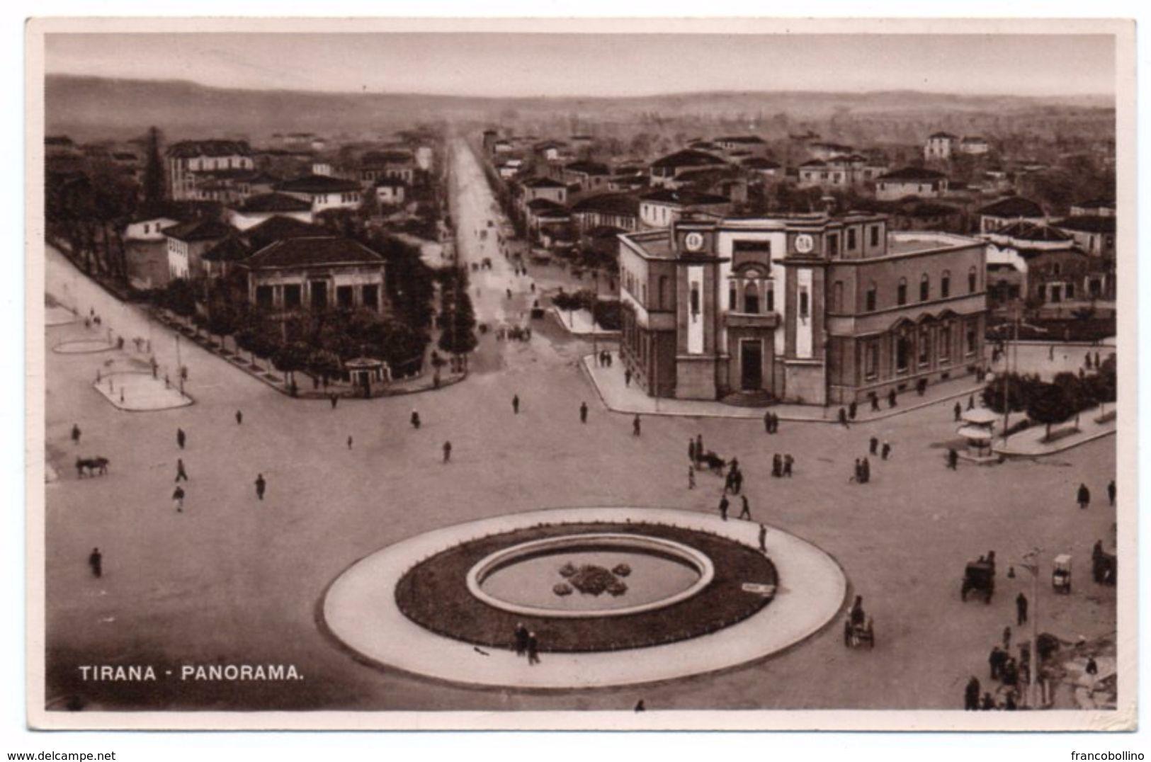ALBANIE/ALBANIA - TIRANA-PANORAMA - 1941 - Albania