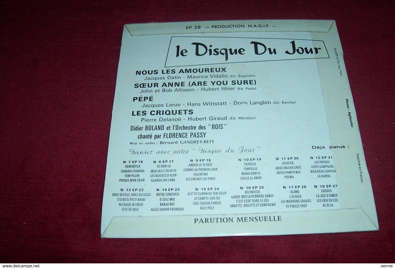 COLLECTION  DISQUE  DU  JOUR  VARIETES DES ANNEES 60 / DIDIER BOLAND  No 19 - Collections Complètes
