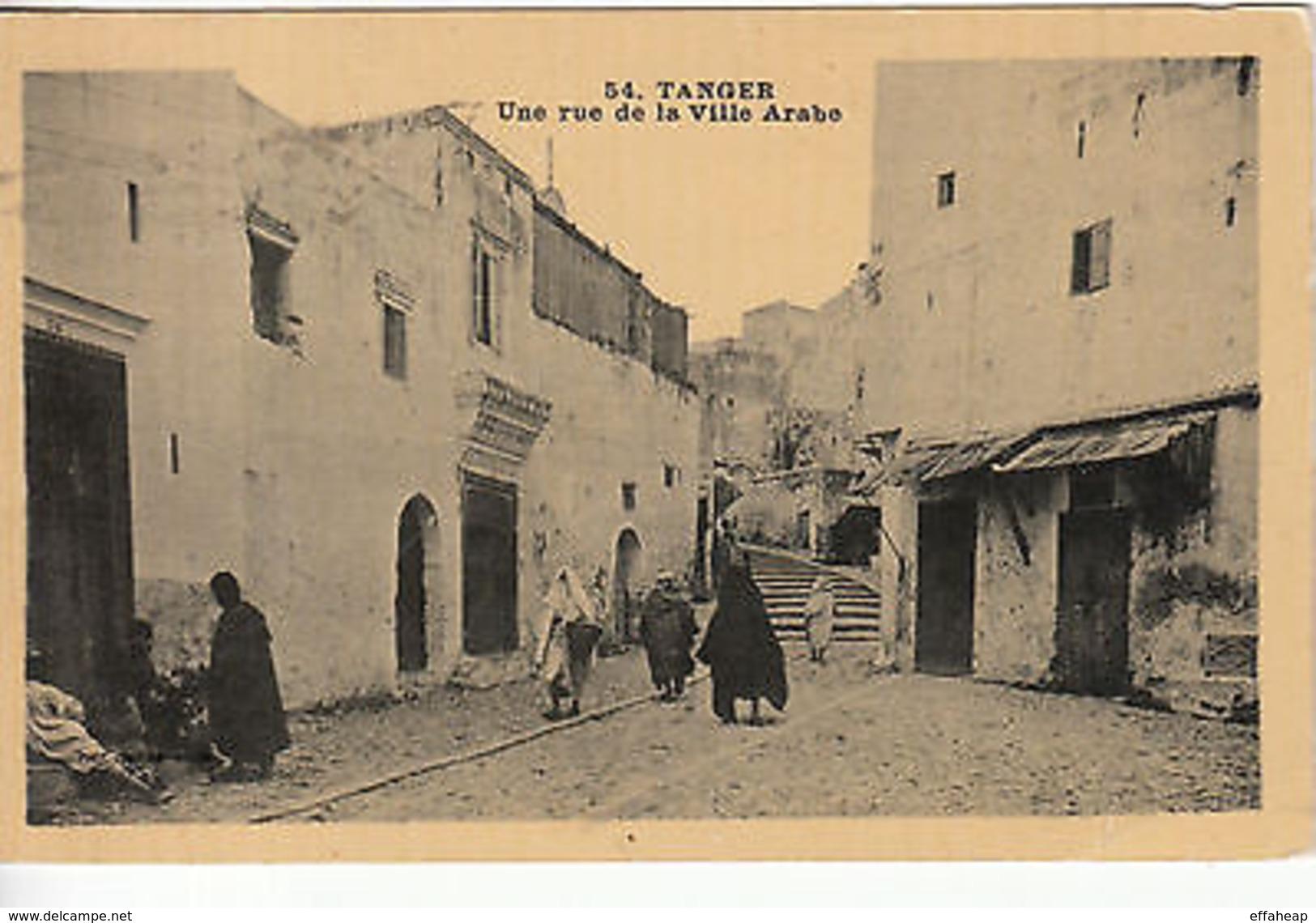Morocco: Postcard, 'Une Rue De La Ville Arabe'; Tangier To Bordeaux, 14 Aug 1933 - Europe (Other)