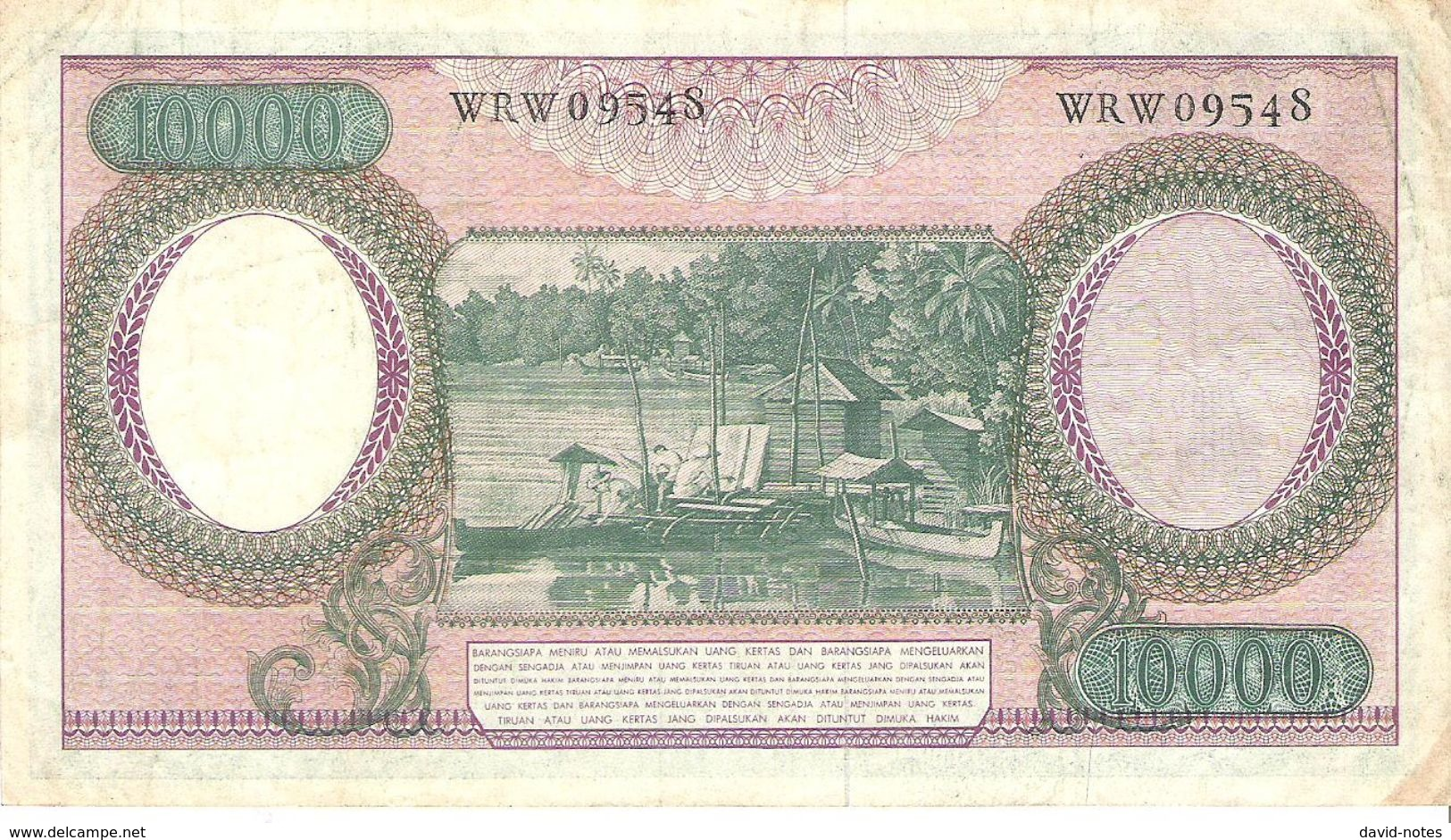 Indonesia - Pick 100 - 10.000 (10000) Rupiah 1964 - F+ - Indonésie