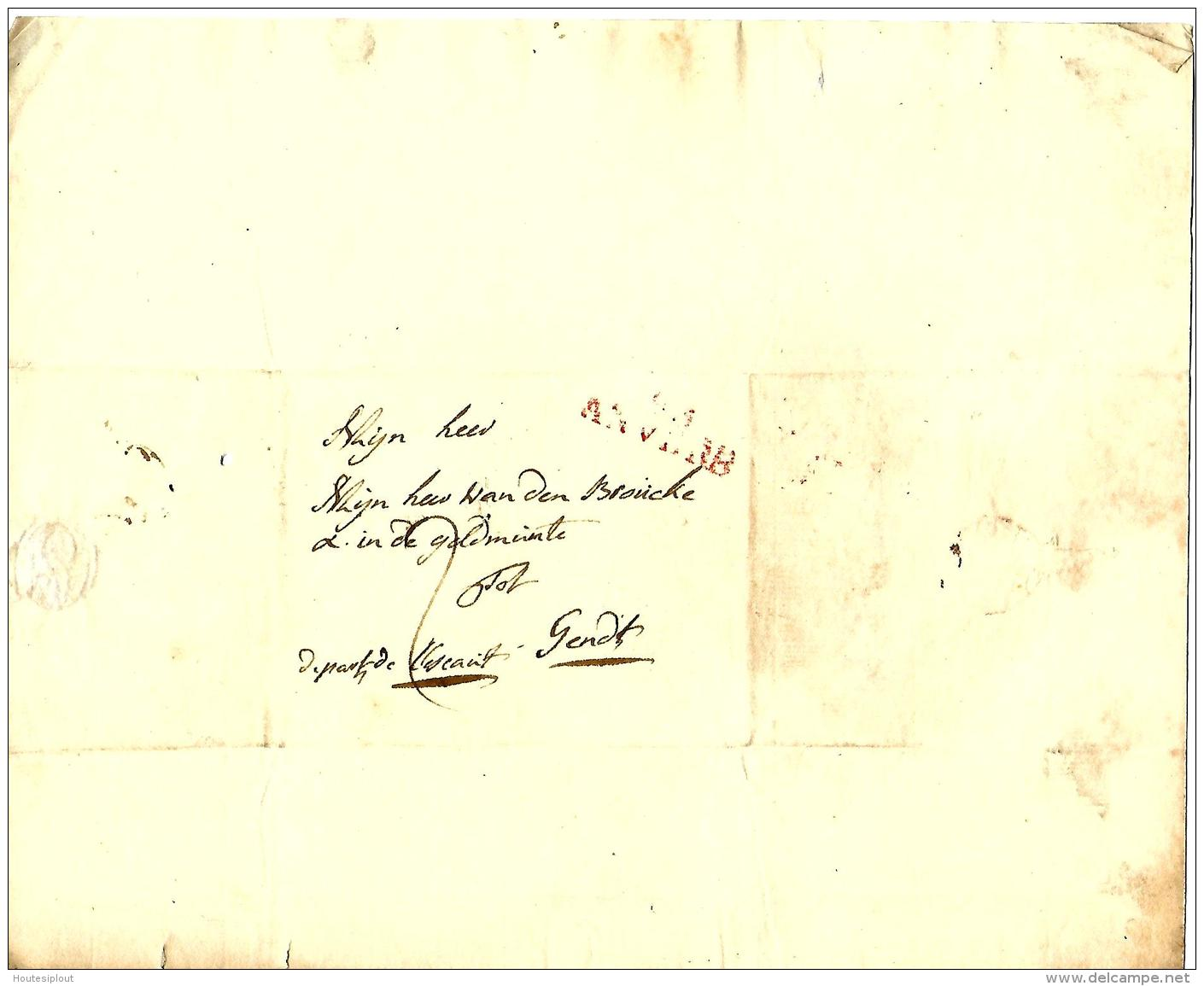 LàC  Geel  21/10/1801  >  Gent   Obl  93/Anvers     Herlant N° 21 - 1794-1814 (Période Française)