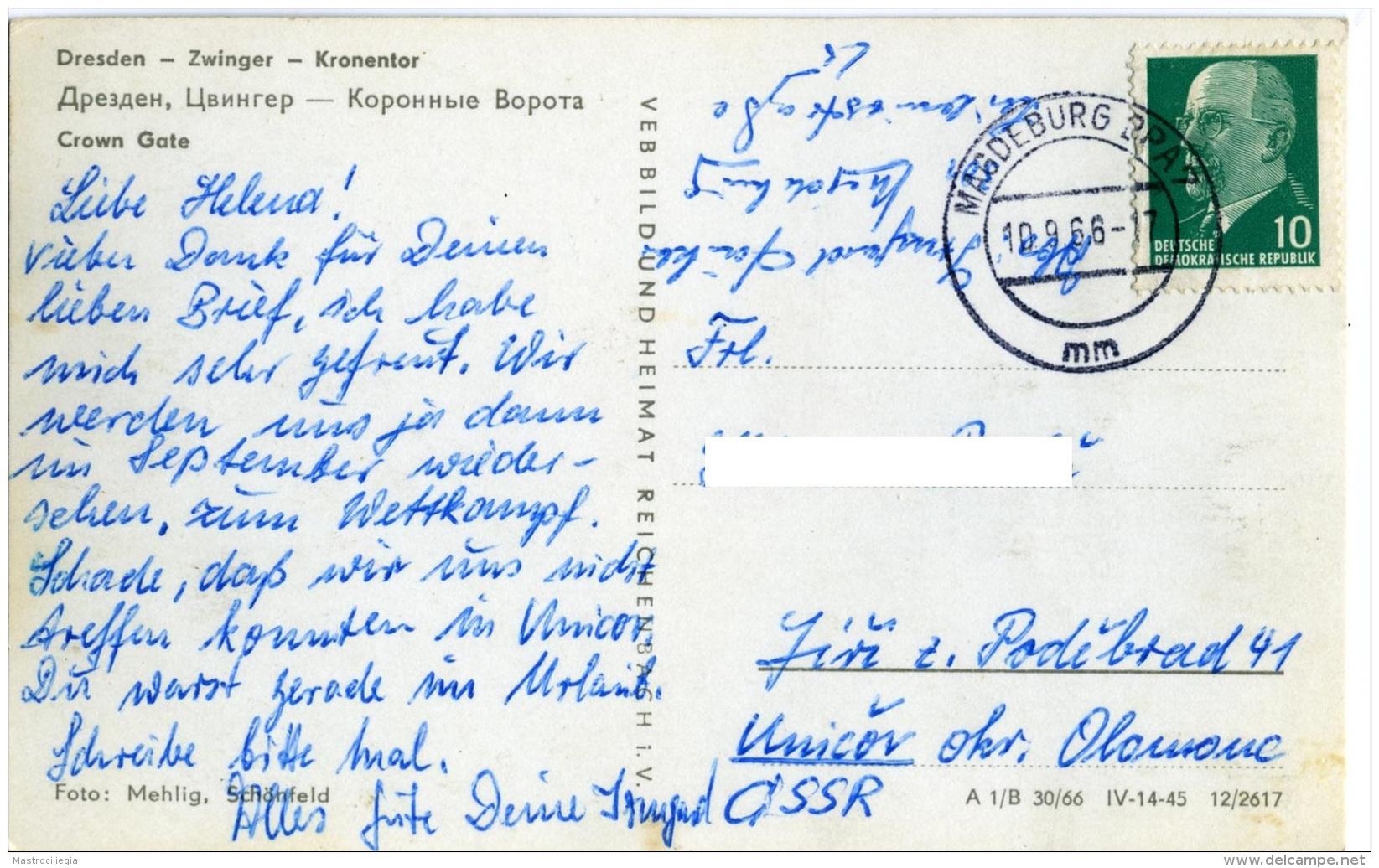 GERMANIA  SACHSEN   DRESDEN  Zwinger  Kronentor - Dresden