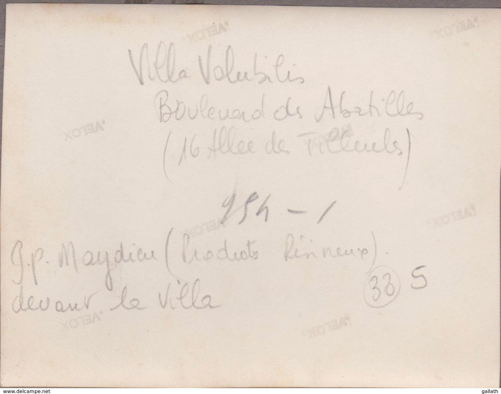 """33-ARCACHON-Villa """"VOLUBILIS"""" Boulevard Des Abatilles (photo 9x12) Animé Le Propriétaire G.P MAYDIEU Devant... - Arcachon"""