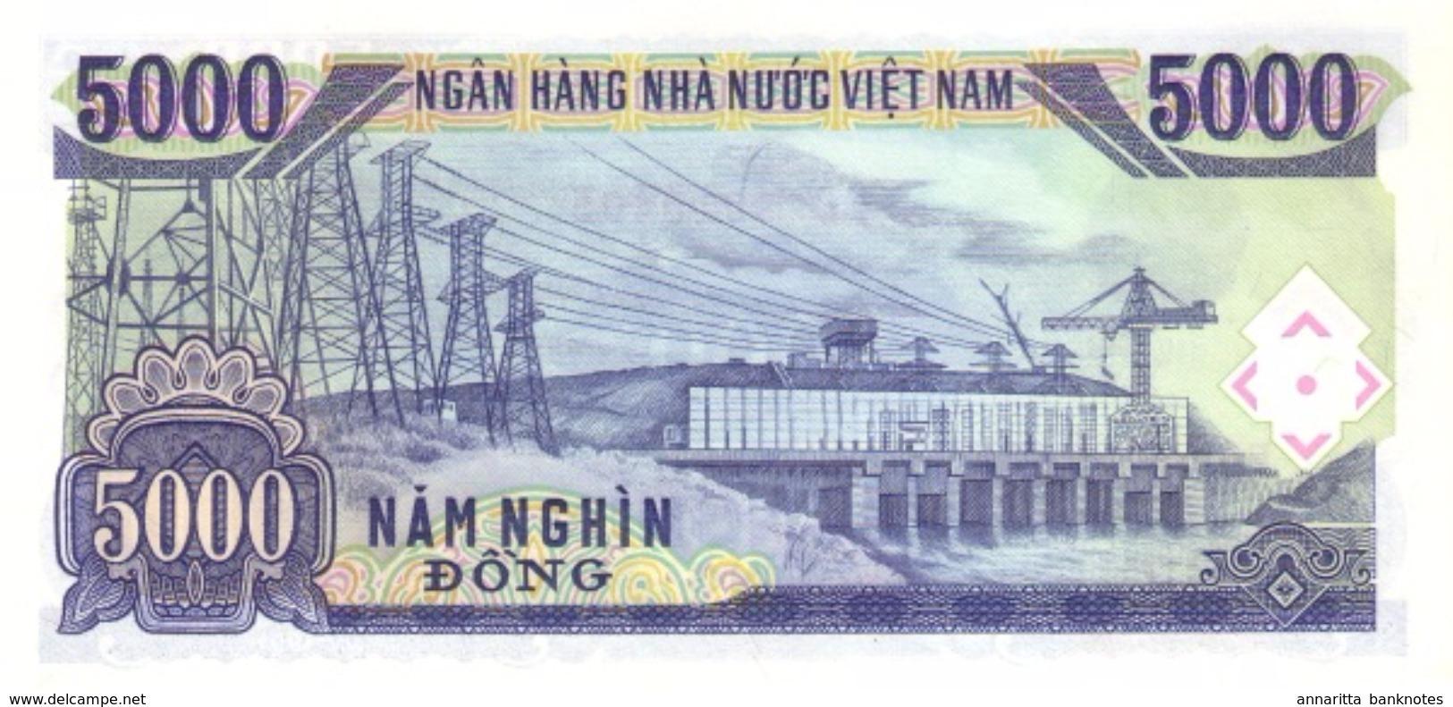 VIETNAM 5000 DONG 1991 (1993) P-108a NEUF [VN336a] - Vietnam