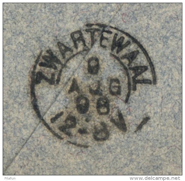 Nederlands Indië - 1898 - 15 Cent Hangend Haar Op Cover Van Bandoeng Naar KR ZWARTEWAAL / NL - Indes Néerlandaises