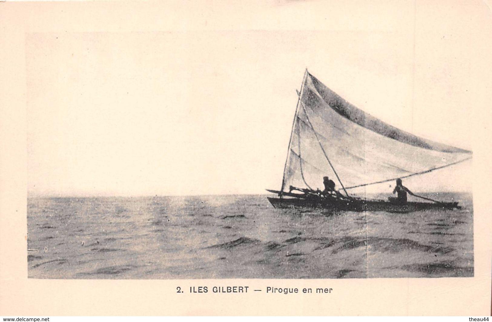 ¤¤  -  1  -  ILES GILBERT   -  Pirogue   -  Pêche , Pêcheurs   -  ¤¤ - Kiribati