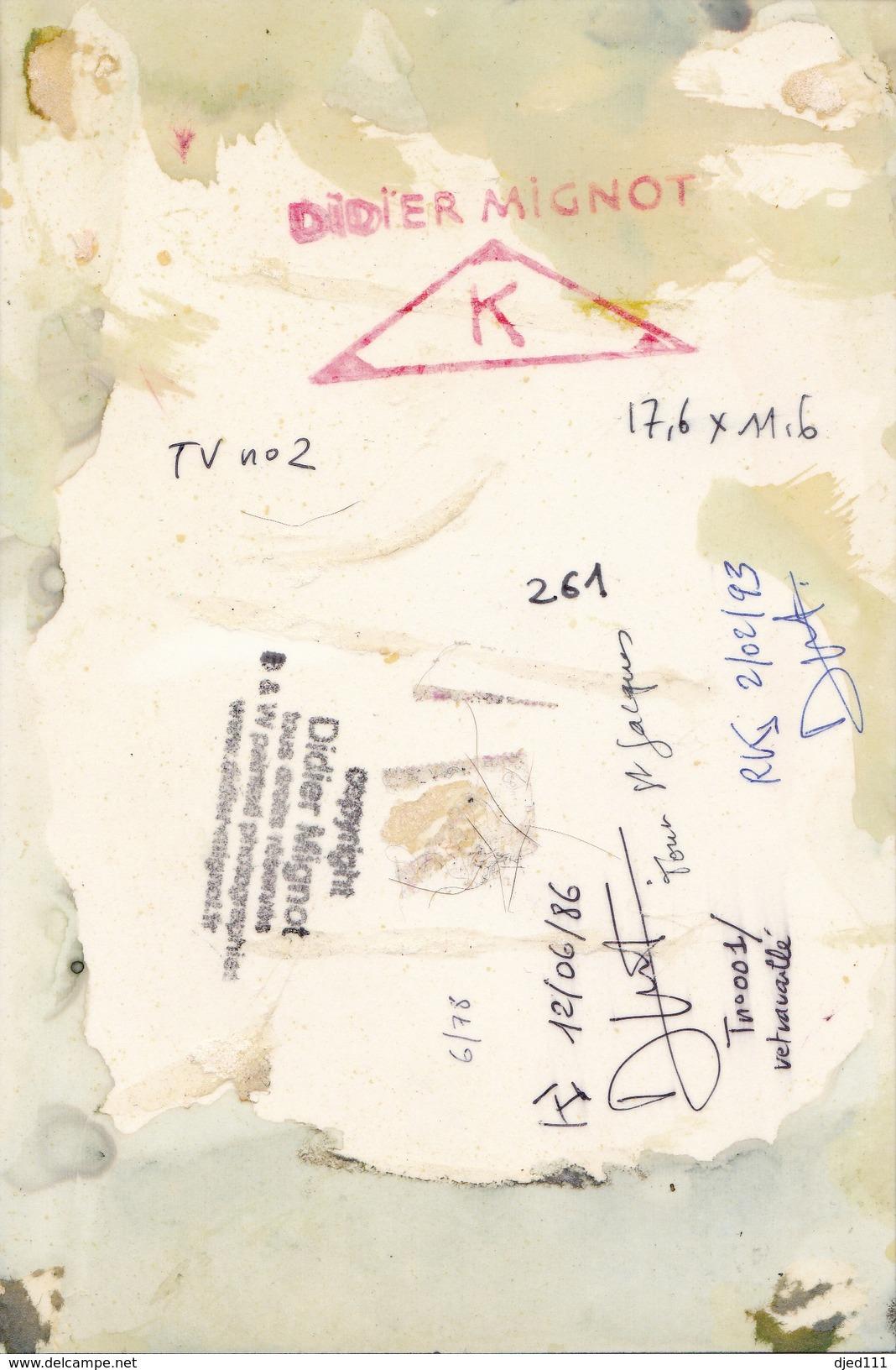 """"""" Tour St Jacques - Paris """"    Didier Mignot - Autres Collections"""