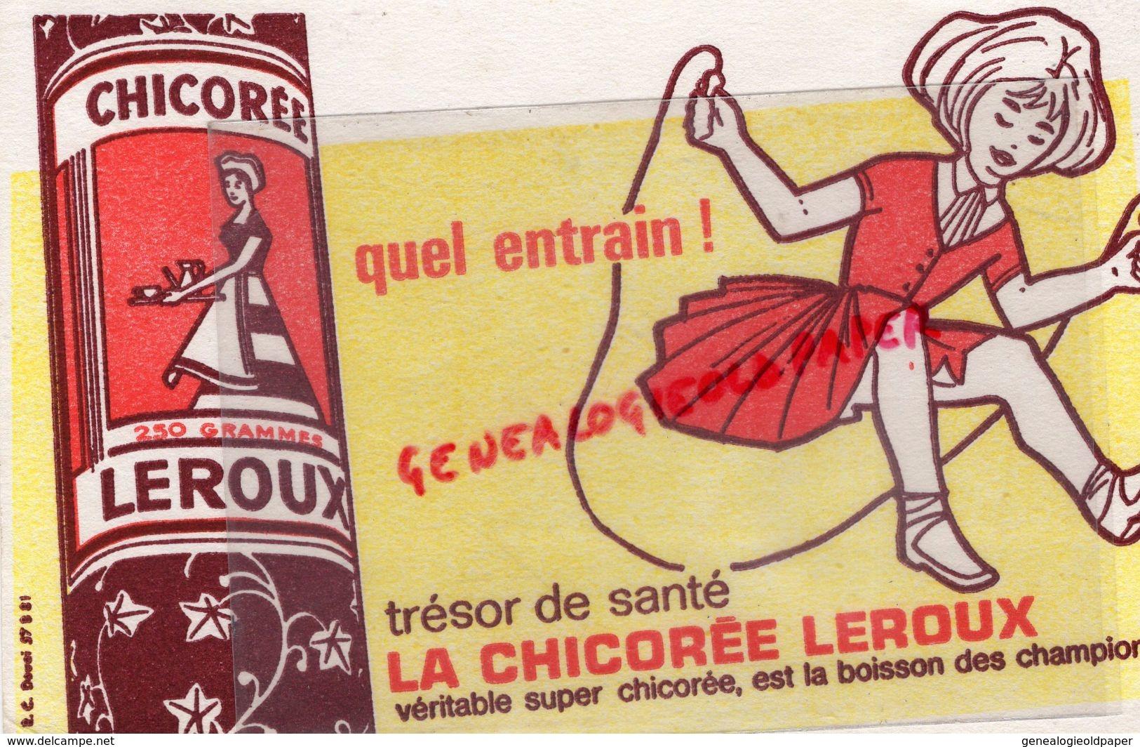 59 - ORCHIES- BUVARD CHICOREE LEROUX - SAUT A LA CORDE - LA BOISSON DES CHAMPIONS - Buvards, Protège-cahiers Illustrés