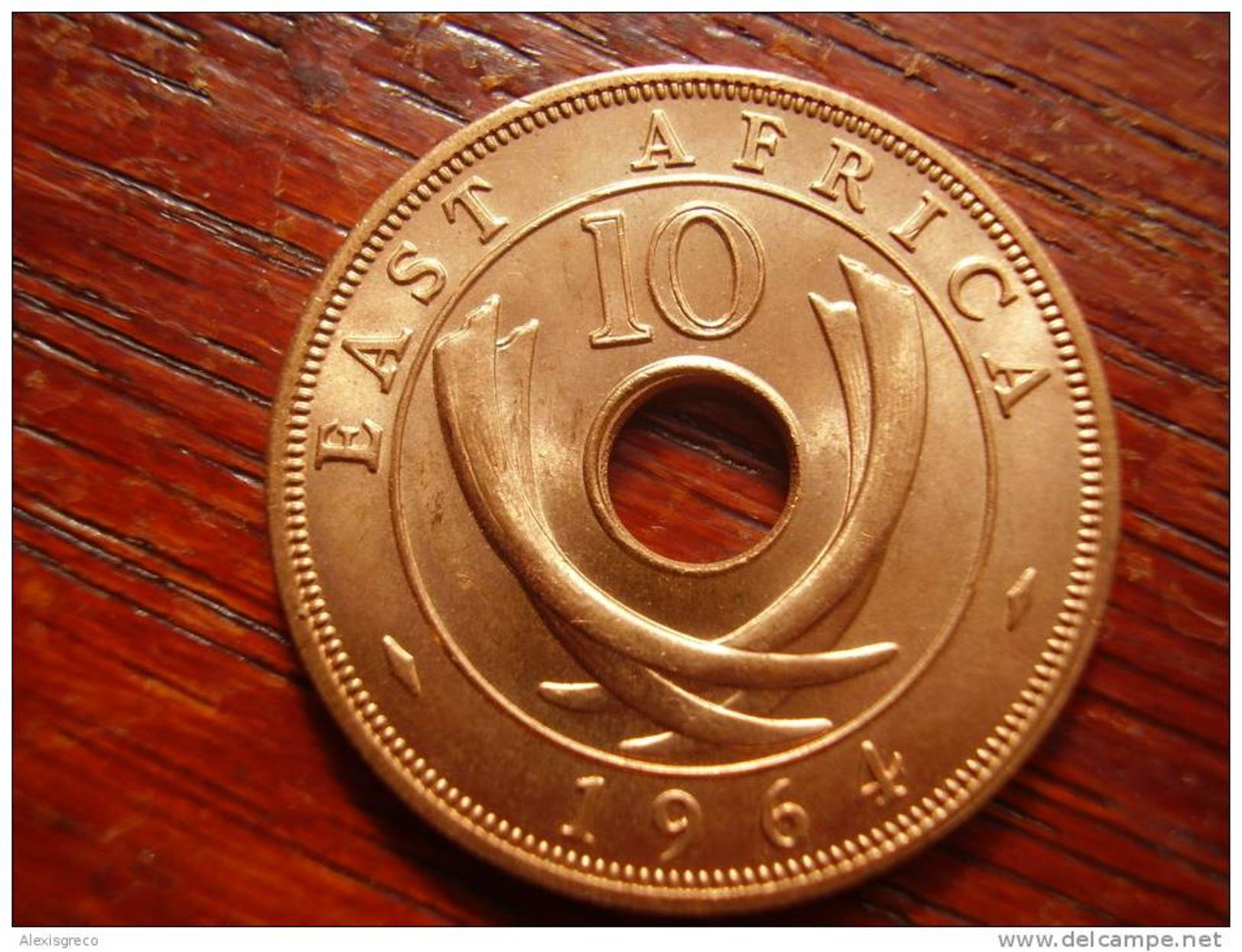 BRITISH EAST AFRICA 1964 UNCIRCULATED COIN TEN CENTS BRONZE (Post-Independence Issue). - British Colony