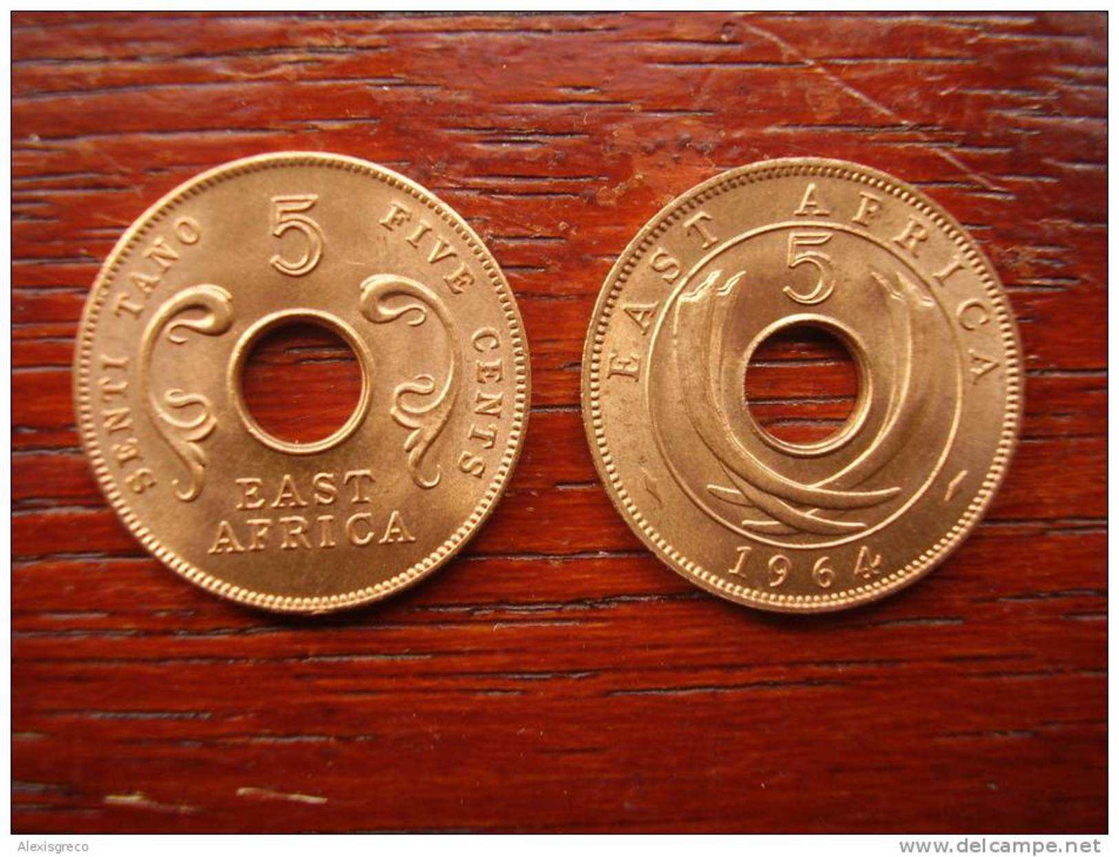 BRITISH EAST AFRICA 1964 UNCIRCULATED COIN FIVE CENTS BRONZE (Post-Independence Issue). - British Colony