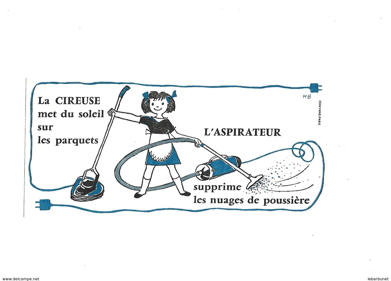 Buvard La Cireuse_l'aspirateur - Electricité & Gaz