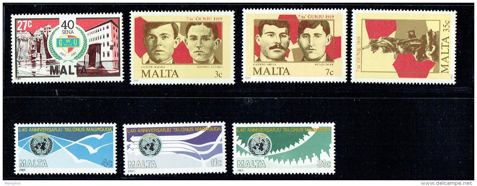 1978-85  16 Complete Sets MNH -UM   ** - Malta