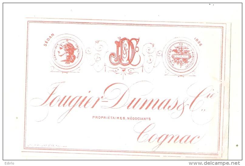 étiquette  COGNAC   Certainement Avant 1900 - COGNAC Fougier Dumas Et Cie - Whisky