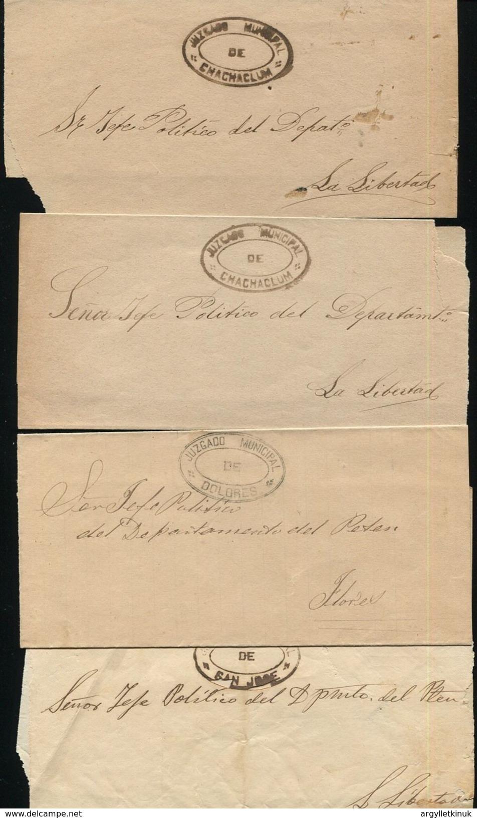 GUATEMALA PETEN MAYA OFFICIAL COURT WRAPPERS C1855 - Guatemala