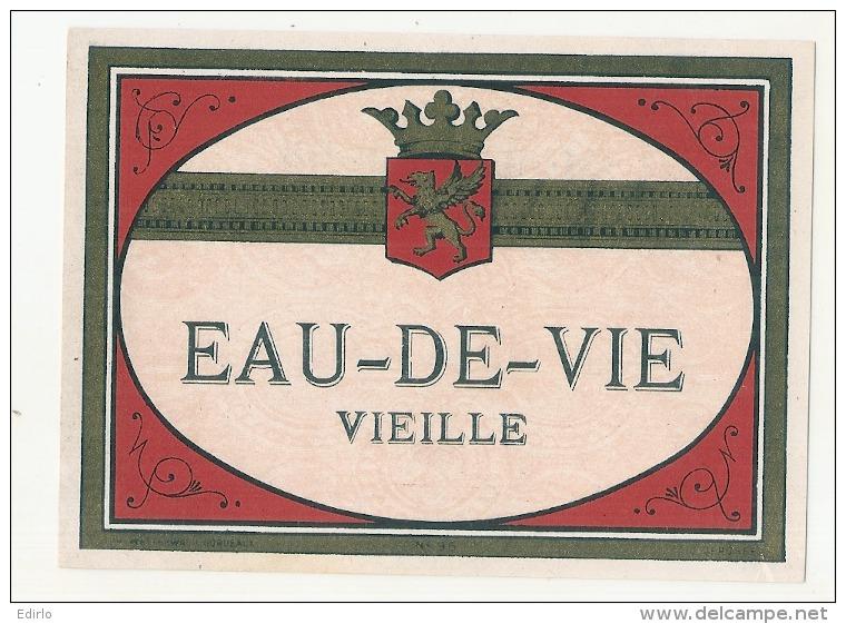 étiquette  - Eau De Vie Vieille    - Modele Imprimeur 96 (explication Dos) 4petits Clairs - - Whisky