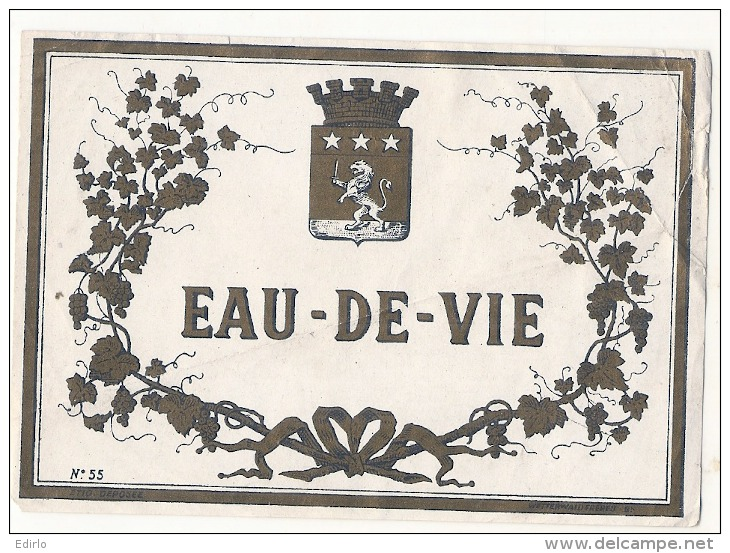 étiquette  - Eau De Vie - Quelques Plis - Whisky