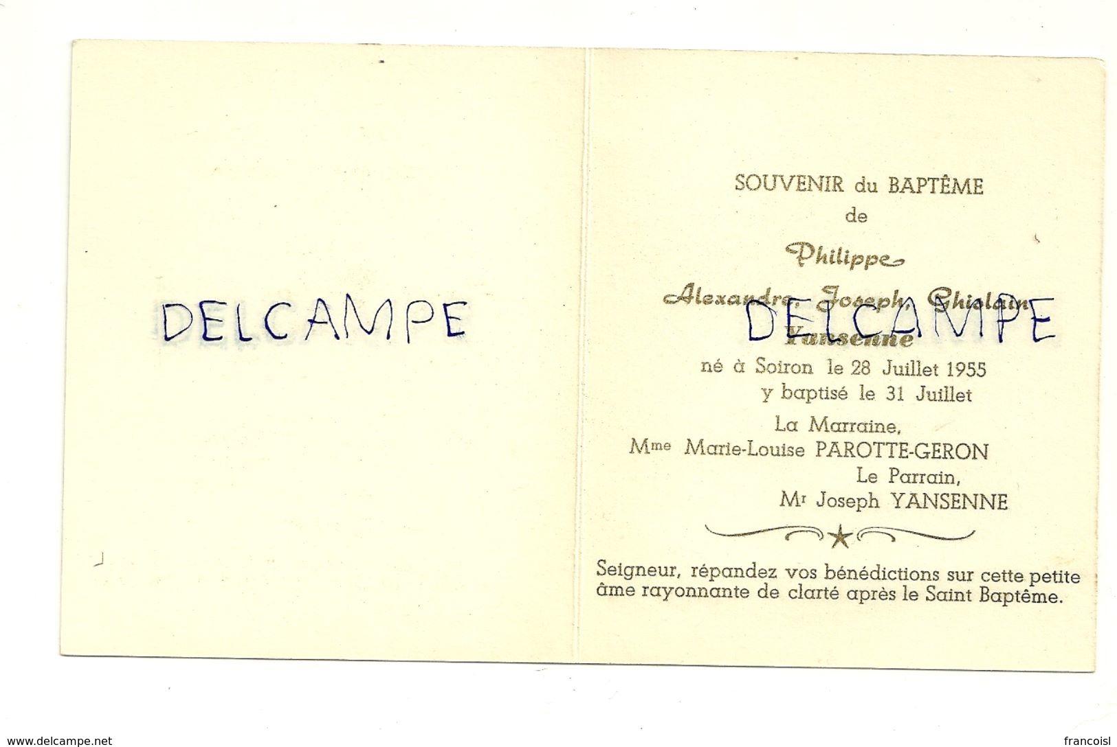Mignonnette Double. Soiron 1955. Philippe. Bébé, Anges Et Nounours. Coloprint 11342/7. 9,7,5 Cm - Nascite