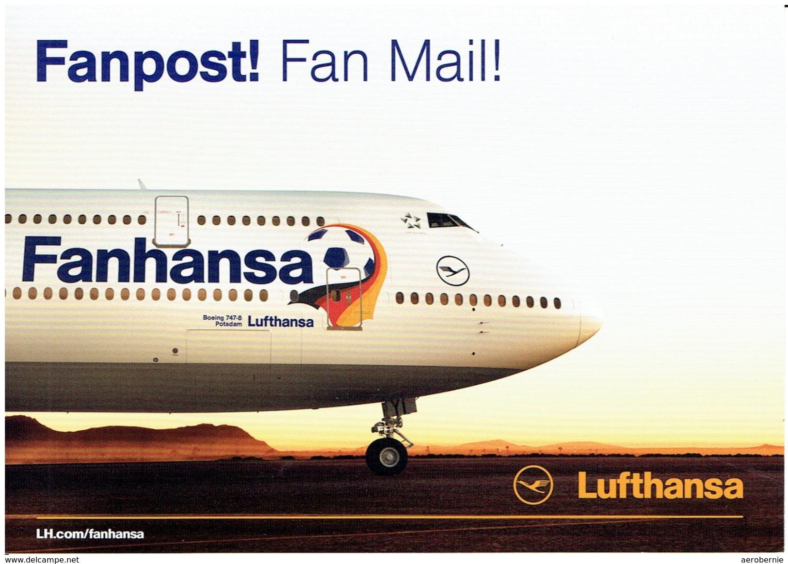 """LUFTHANSA - Boeing 747-400  """"FANHANSA"""" (Airline Issue) - 1946-....: Moderne"""