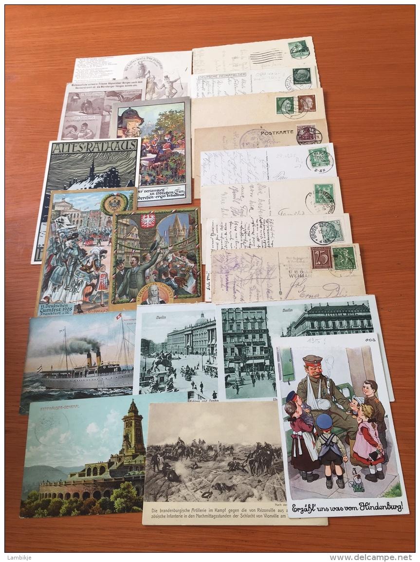 Sammlung Von 20 Bildpostkarten & Postkarten Deutsches Reich - Timbres
