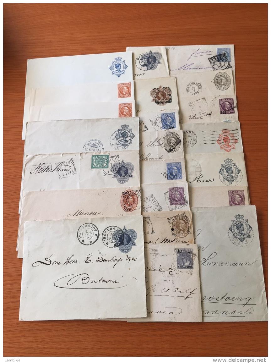 Sammlung Von 22 Enveloppen Nederlands-Indië - Postzegels
