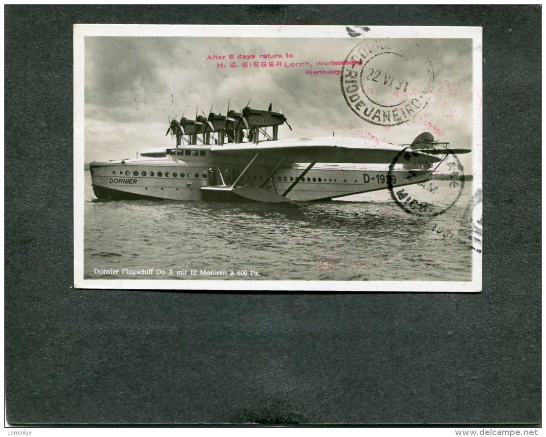 Deutsches Reich Zeppelin DOX Postkarte 1931 - Germany