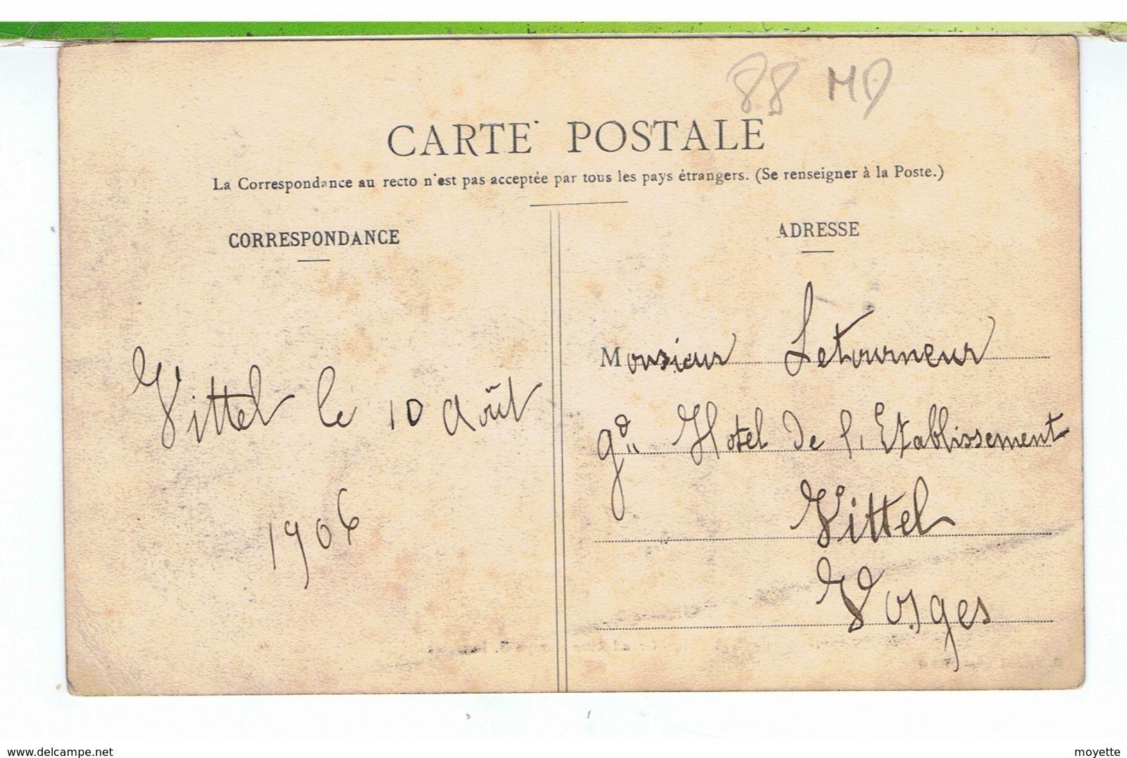 CPA-88-1906-VITTEL-GRAND AUTO GARAGE G.LETERME-ANIMEE-NOMBREUSES VOITURES AVEC DES PERSONNES A CÔTÉ-BENZ MOTEUR- - Vittel Contrexeville