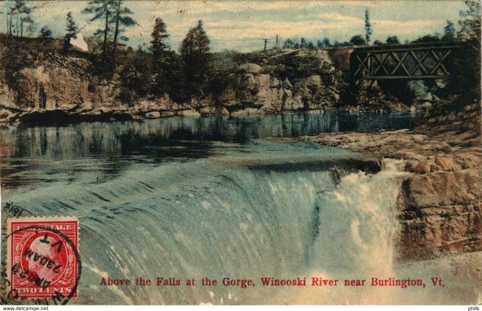Above The Falls At The Gorge - Winooski River Near Burlington, Vt - Burlington