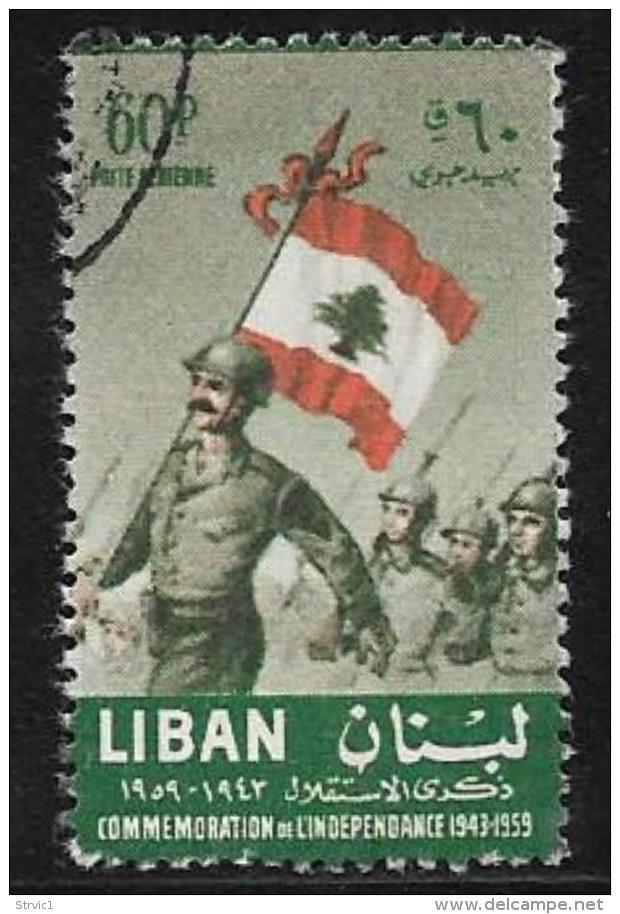 Lebanon, Scott #C270 Used Soldiers, Flag, 1959 - Lebanon