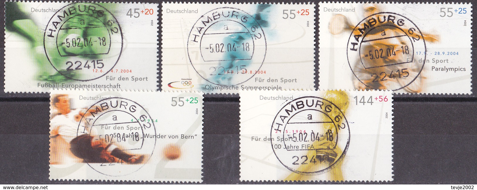 Hmö_ Bund - Mi.Nr. 2382 - 2386 - Gestempelt Used - [7] República Federal