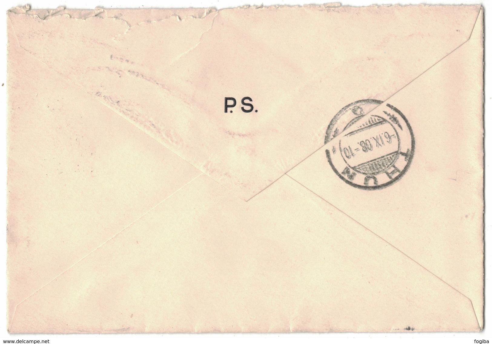 TH83    Dt. Reich 1908  Brief Mülhausen Nach Thun (Schweiz) - Germania