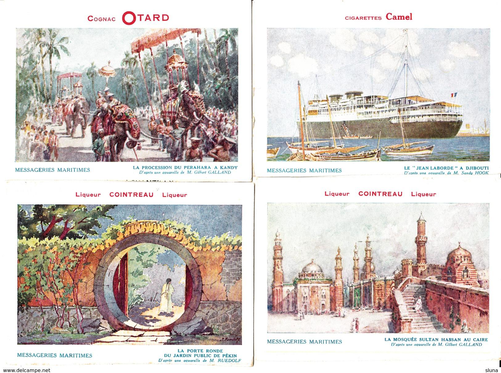 Messageries Maritimes - Lot De Quatre Cartes - Publicité