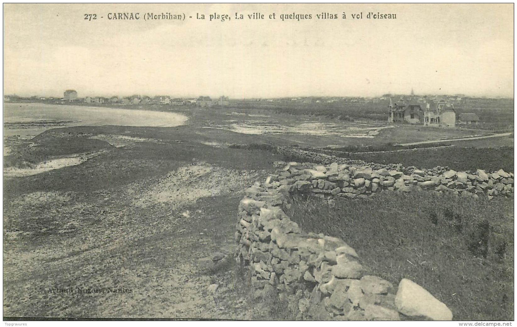 56 CARNAC PLAGE VILLE ET QUELQUES VILLAS A VOL D'OISEAU - Carnac