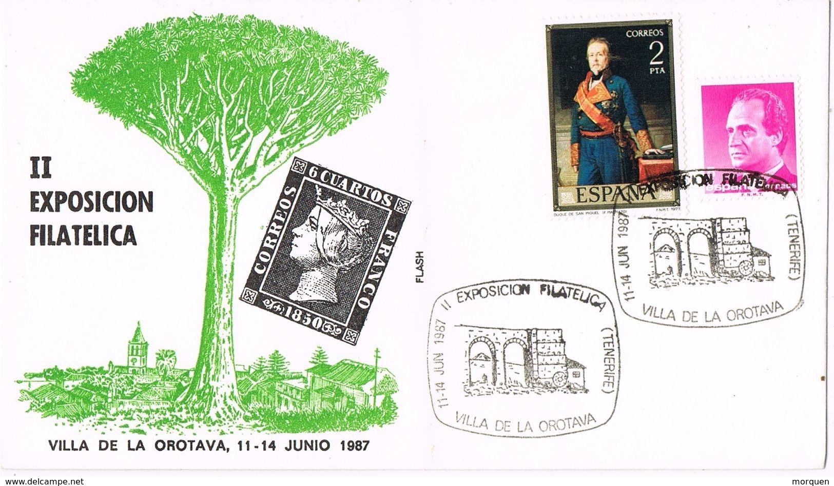24885. Carta Exposicion OROTAVA (Canarias) 1987. Arbol Drago - 1931-Hoy: 2ª República - ... Juan Carlos I