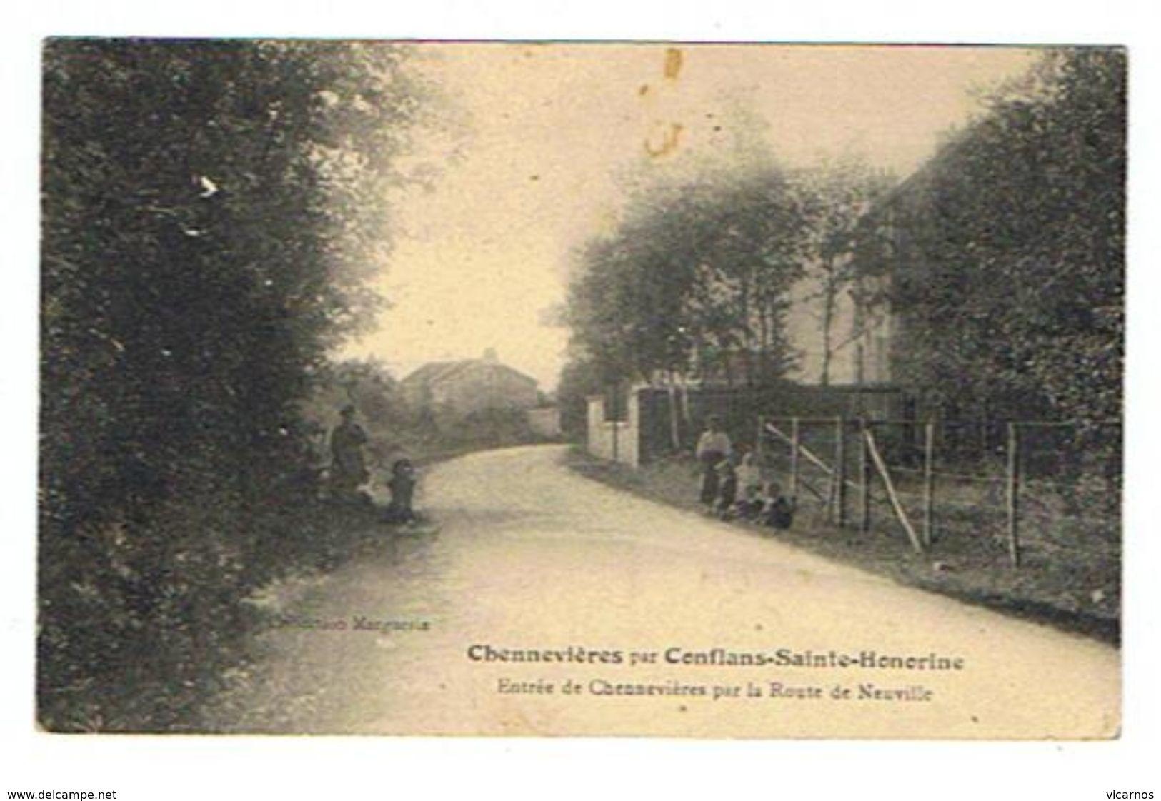 CPA 94 CHENNEVIERES Entrée De Chennevieres Par La Route De Neuville - Chennevieres Sur Marne