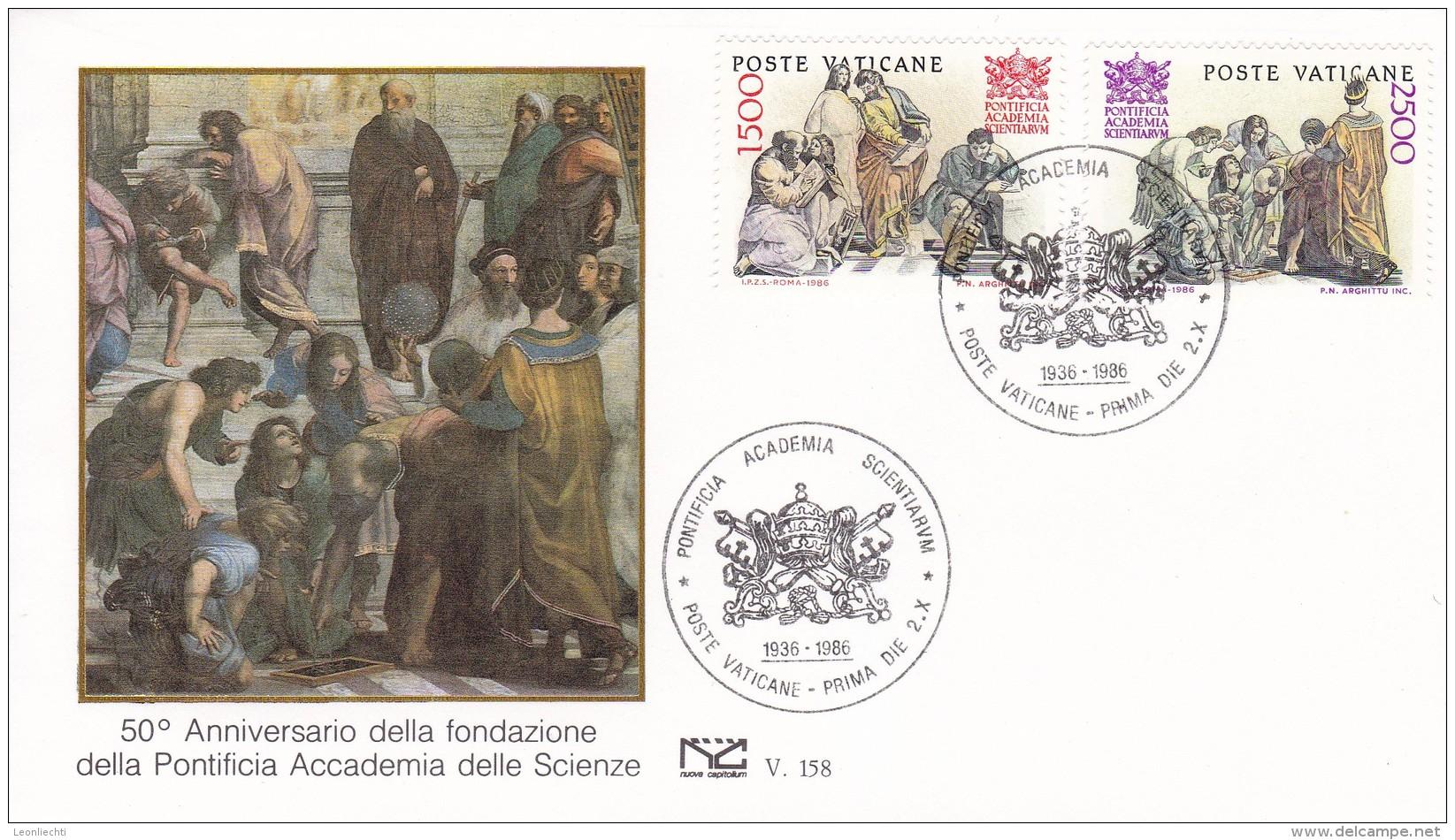 Vaticano 1986  50 Jahre Päpstliche Akademie Der Wissenschaften. Mi: 897  + 898 - Sciences