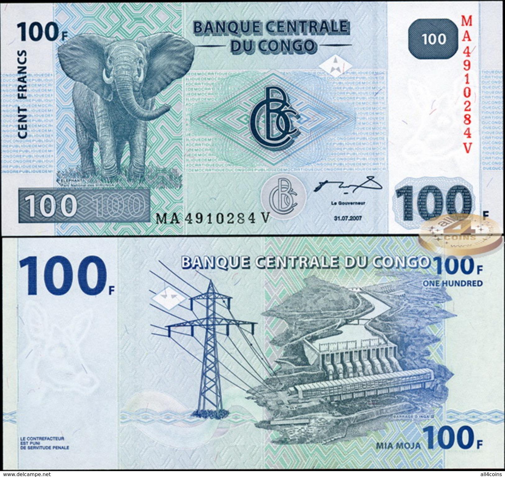 Congo. 100 Francs (Unc) 2007. Banknote Cat# P.98a [DLC.BN02842] - Democratic Republic Of The Congo & Zaire