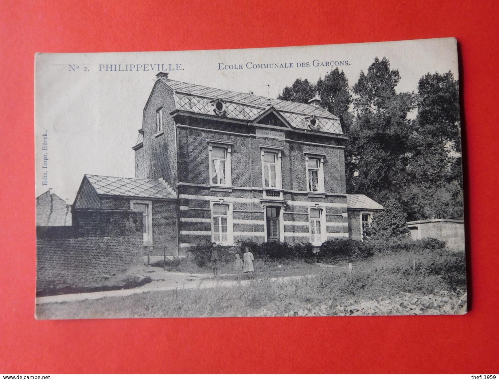 Philippeville 1910  Ecole Communale Des Garçons - Philippeville