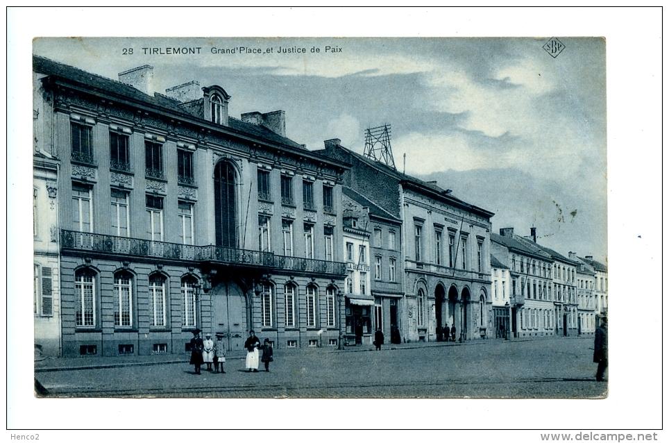 Tirlemont - Grand'Place Et Justice De Paix (1910) / SBP 28 - Tienen
