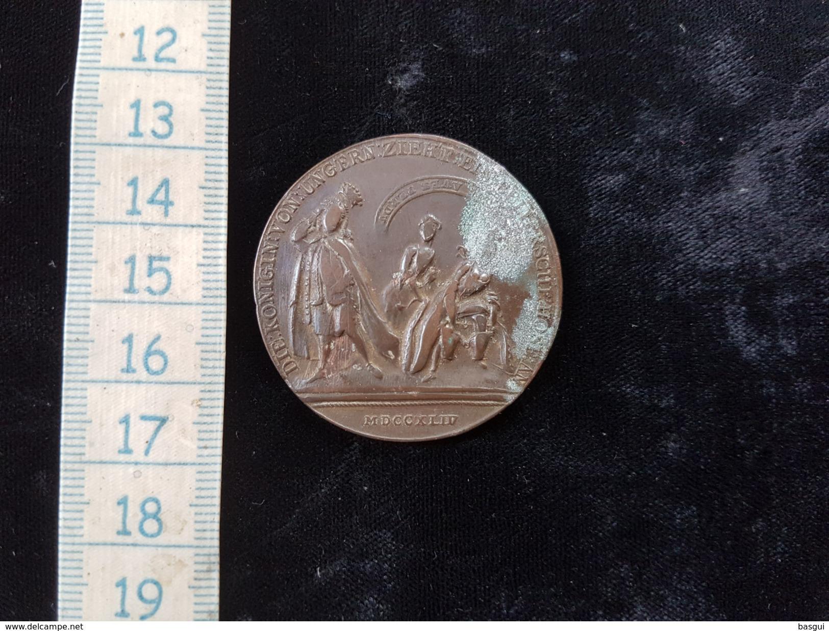 ROYAUME DE BOHÈME - MARIE-THÉRÈSE Médaille Satyrique - Humiliation De Marie-Thérèse Par Frédéric II,  1764 - Royal / Of Nobility