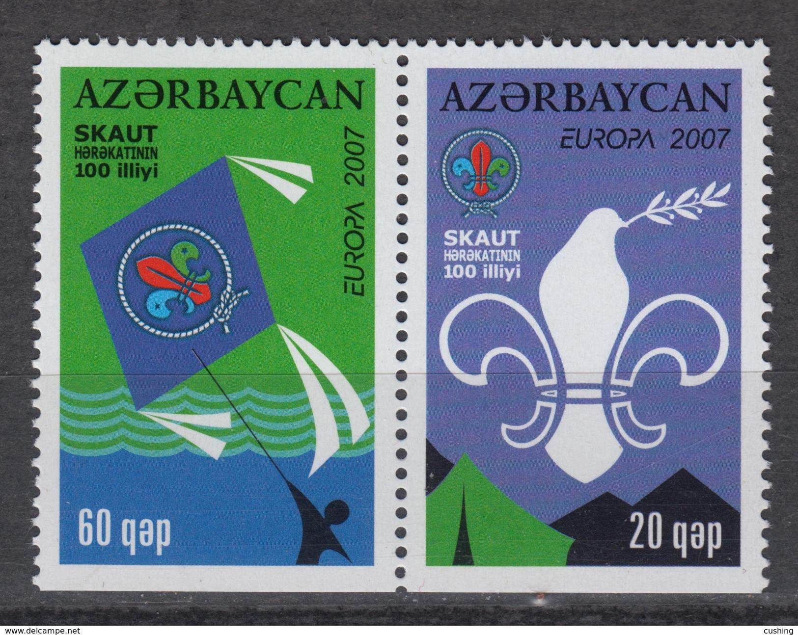 AZERBAIJAN Yvert 580a-81a - ** MNH -  Europe CEPT  (2007) – Scouting - Azerbaïjan